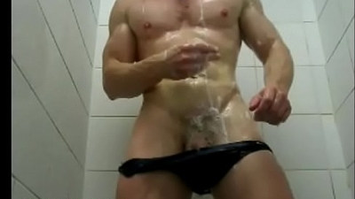 Sexy Man Showers after water polo training wet speedo Muscle Bulge Video Zak Rogerz Gym locker room