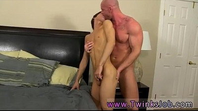 Brown-haired guys getting fucked for the cam