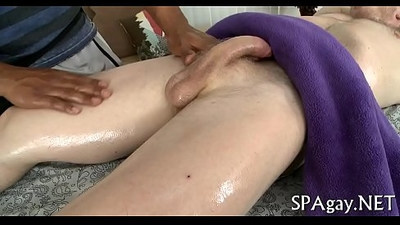 Homosexual undressed male massage