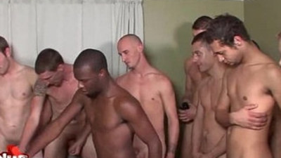 Gay Gangbang Fucking And Bukkake Orgy Video