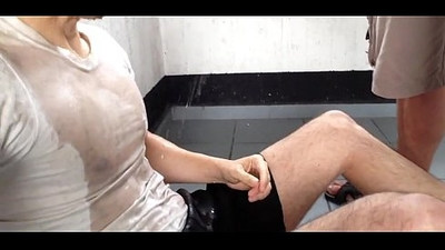 piss and cum shower in shopping mall