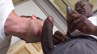 Stud loves gay black cock