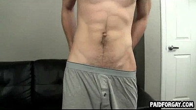 Straight amateur hunk gives blowjob for some money