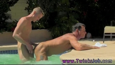 Naked ebony male gay porn wallpapers Daddy Poolside Prick Loving