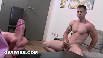 GAYWIRE Smooth Amateur Hunk Gets His Model Fucked Bareback