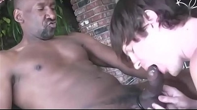 Huge Black big Cock sucked by a White