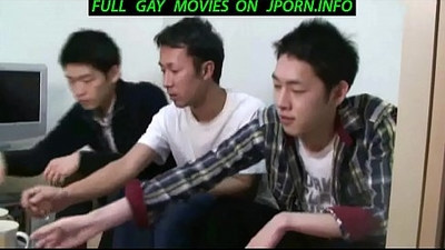 Hot Takeshi jerks off at the local gay bar