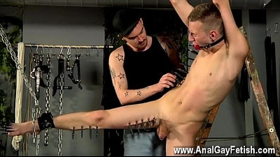 Hot gay The smoking domineering man starts with hitting the